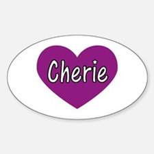 Cherie Oval Decal
