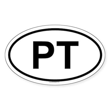 PT Oval Sticker
