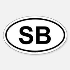 SB Oval Decal