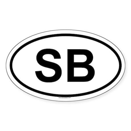 SB Oval Sticker