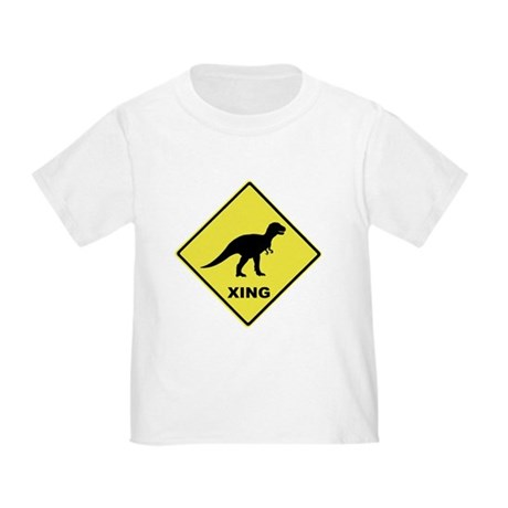 Dinosaur Crossing Toddler T-Shirt