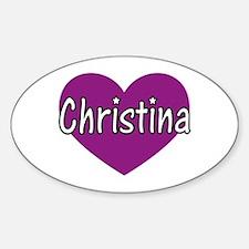 Christina Oval Decal