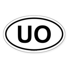 UO Oval Decal