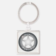 Cute American police Square Keychain