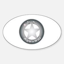 Cool Gunslinger Sticker (Oval)