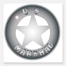"""Cute Bronze star Square Car Magnet 3"""" x 3"""""""
