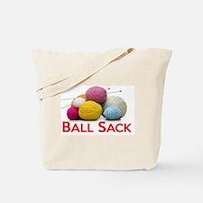 Knitting Ball Sack Tote Bag