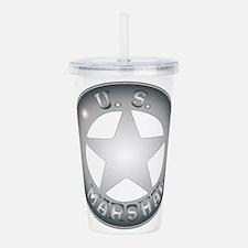 US Marshal Badge Acrylic Double-wall Tumbler