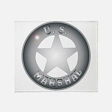 US Marshal Badge Throw Blanket