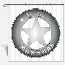 US Marshal Badge Shower Curtain