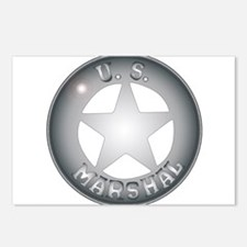 US Marshal Badge Postcards (Package of 8)