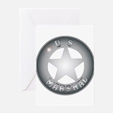 US Marshal Badge Greeting Cards