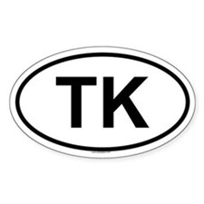 TK Oval Decal