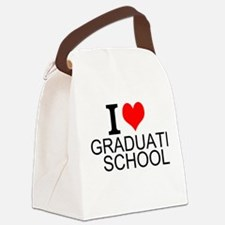 I Love Graduate School Canvas Lunch Bag