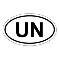 UN Oval Decal