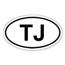 TJ Oval Decal