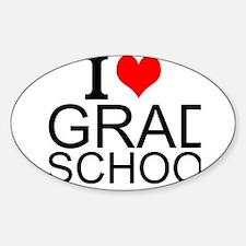 I Love Grad School Decal