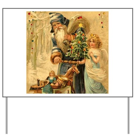 Santa Claus Christmas Party Yard Sign