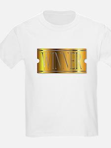 Winner Ticket In Gold T-Shirt