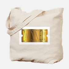 Winner Ticket In Gold Tote Bag