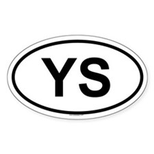 YS Oval Decal