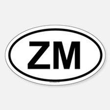 ZM Oval Decal