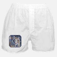 White Tiger with Blue Eyes Boxer Shorts