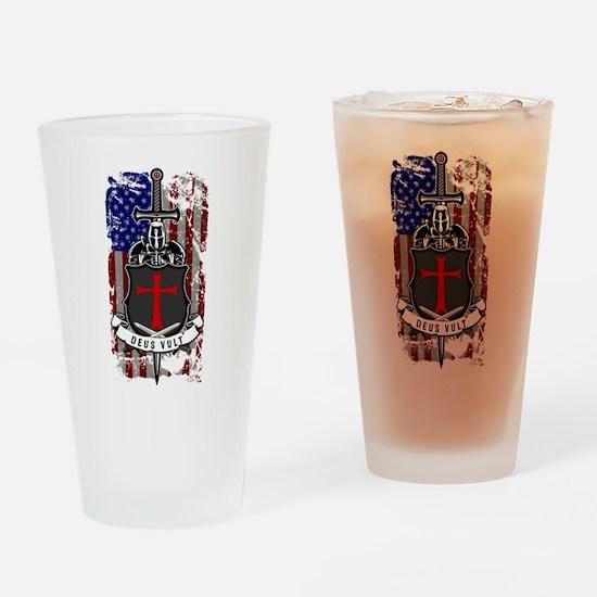 AMERICAN KNIGHT GOD WILLS IT Drinking Glass