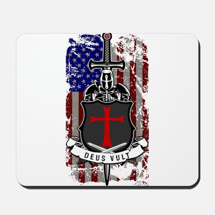 AMERICAN KNIGHT GOD WILLS IT Mousepad