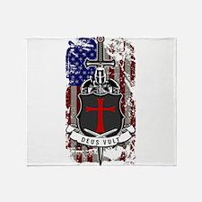 AMERICAN KNIGHT GOD WILLS IT Throw Blanket