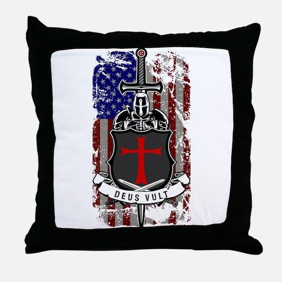 AMERICAN KNIGHT GOD WILLS IT Throw Pillow