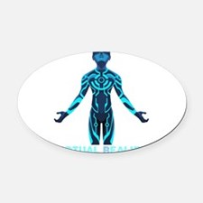 VIRTUAL REALITY VR Oval Car Magnet