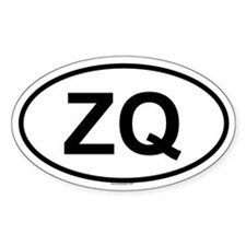 ZQ Oval Decal