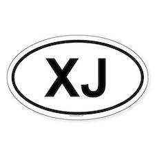 XJ Oval Stickers