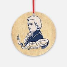 Love = Genius -Mozart Round Ornament