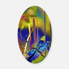 Cute Dragonfly Oval Car Magnet