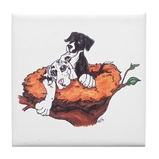 Pupnest Great Dane Tile Coaster