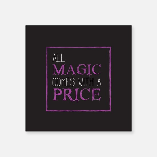 "Once Upon a Time All Magic Square Sticker 3"" x 3"""