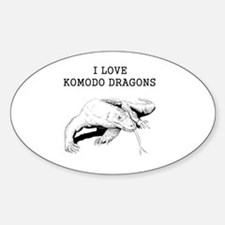 I Love Komodo Dragons Decal