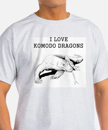I Love Komodo Dragons T-Shirt