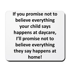 If you promise... Mousepad