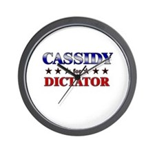 CASSIDY for dictator Wall Clock