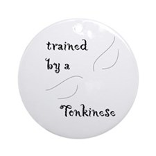 Trained by a Tonkinese Keepsake (Round)