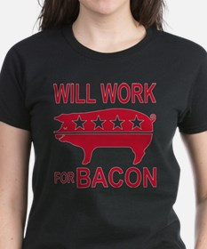 Will Work For Bacon Tee