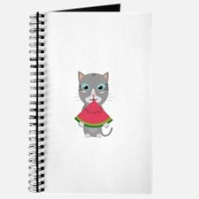 Cat with Melon Journal