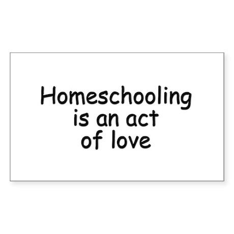 Homeschooling is beautiful Sticker