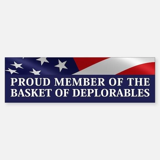 The Basket Of Deplorables Bumper Bumper Bumper Sticker