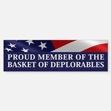 The Basket Of Deplorables Bumper Car Car Sticker