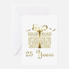 25 Years Anniversary or Birthday Greeting Cards