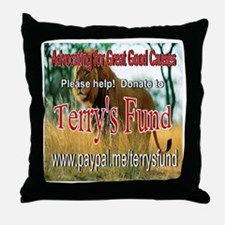 Terry's Fund Support the Arts Throw Pillow